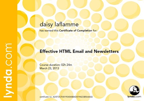Email Newsletters Certificate