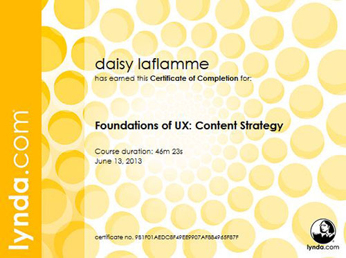 Foundations of UX: Content Strategy