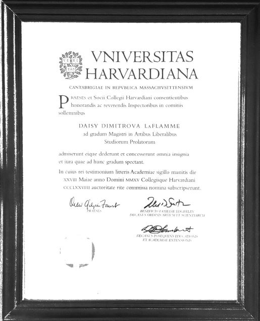 Image of Harvard University Diploma
