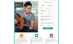 Landing page for an AdWords campaign – 2016.